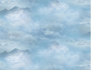 Wings of Pride Storm Clouds in the Mountains Cloud Cotton Fabric