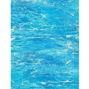 Beach Day Clear Ocean Water by the Beach Waves Surf Blue Cotton Fabric