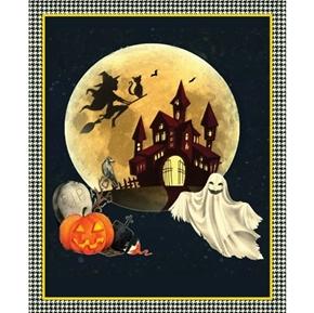 Darkside Halloween Scene Kate Ward Thacker Holiday Cotton Fabric Panel