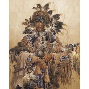 Medicine Pipe Traditional Native American Digital Cotton Fabric Panel