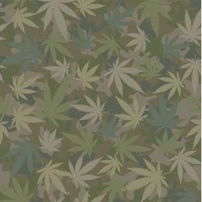 Flying High Incognito Cannabis Marijuana Camouflage Camo Cotton Fabric