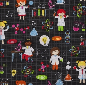 Girl Science Laboratory Chemistry DNA Lab Coat Girls Cotton Fabric