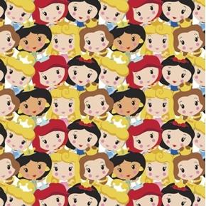Disney Princess Kawaii Cute Princess Party Cotton Fabric