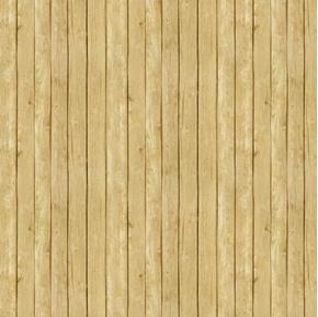 Landscape Medley Light Brown Oak  Barn Siding Wood Planks Cotton Fabric