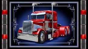Keep on Truckin' Semi Truck Big Rig 24x44 Cotton Fabric Panel