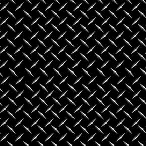Keep on Truckin' Metal Texture Mud Flap or Guard Black Cotton Fabric