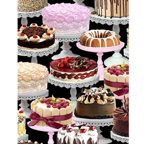 Chocolate Lover Let Them Eat Cakes Fancy Bakery Cake Cotton Fabric