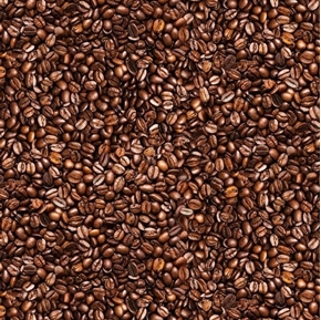 Back to the Grind Packed Coffee Beans Brown Cotton Fabric
