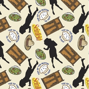 Seinfeld Elaine Icons Toss Top of the Muffin TV Sitcom Cotton Fabric