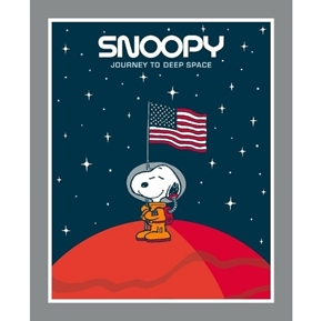 Peanuts Snoopy Journey to Deep Space Large Cotton Fabric Panel