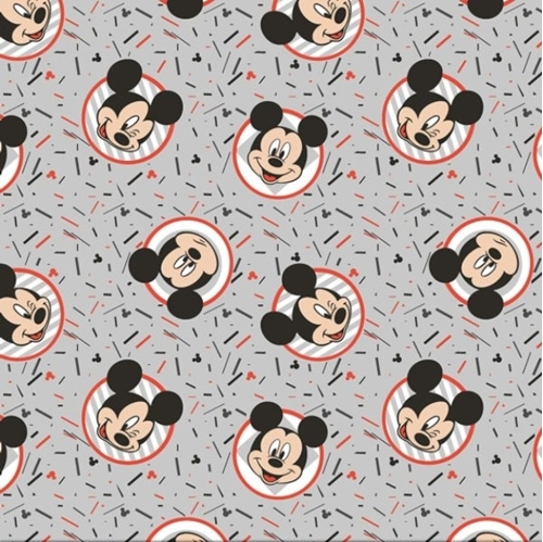 Disney Mickey Mouse Confetti Party Mickey Expressions Cotton Fabric